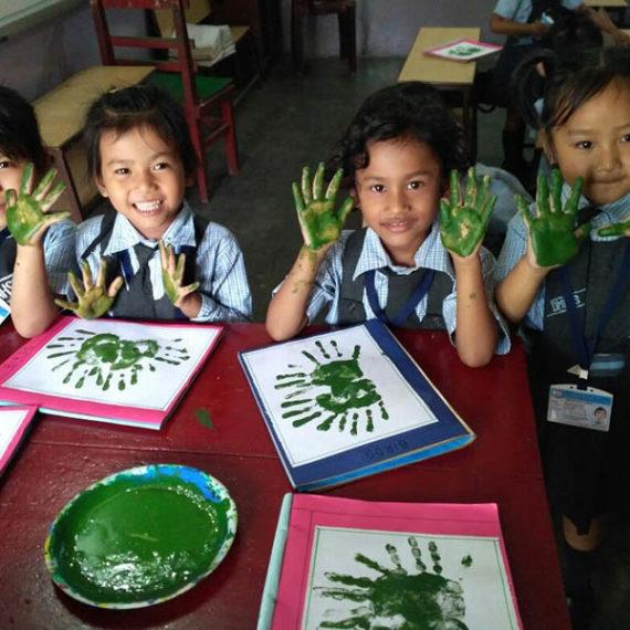 LKG Arts and Crafts Activities